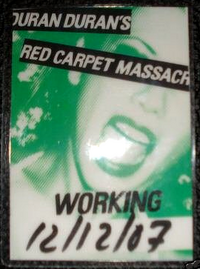 Duran duran back stage pass 2007