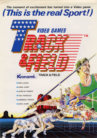 Track and Field Arcade Flyer
