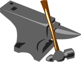 500px-Blacksmith anvil hammer svg