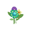 Flower Sticker (Aqua)2