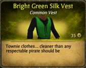 Bright Green Silk Vest