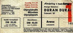 Ticket duran duran 1987-05-10 munchen germany