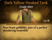 Dark Yellow Hooked Tank