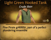 Light Green Darker Hooked Tank