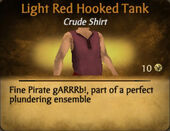 Light Red Hooked Tank