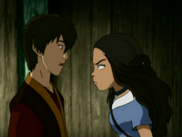 Katara threatens Zuko