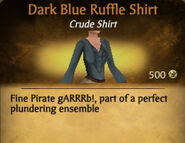 Dark Blue Ruffle Shirt