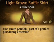 Light Brown Ruffle Shirt