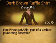 Dark Brown Ruffle Shirt