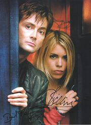 David tennant billie piper signed photo