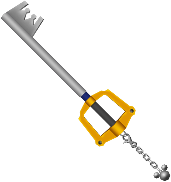 The Kingdom Key , the first Keyblade seen in the Kingdom Hearts series ...