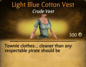 Light Blue Cotton Vest