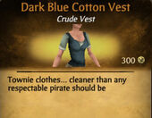 Dark Blue Cotton Vest