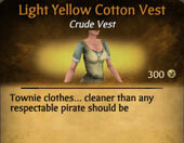 Light Yellow Cotton Vest