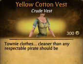 Yellow Cotton Vest