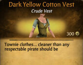 Dark Yellow Cotton Vest