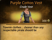 Purple Cotton Vest