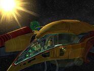 Samus in Gunship render