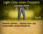 Light Grey Linen Trousers