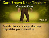 Dark Brown Linen Trousers