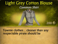 Light Grey Cotton Blouse