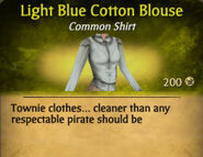Light Blue Cotton Blouse