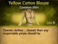 Yellow Cotton Blouse