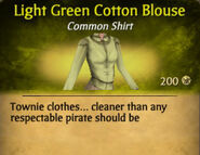 Light Green Cotton Blouse