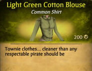 Light Green Darker Cotton Blouse