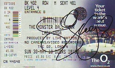 Lady Gaga Concert Ticket on Image   Rare Lady Gaga Concert Ticket Jpg   Ticket Stub Wiki