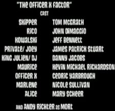The Officer X Factor-Cast