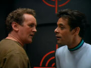 O'Brien and Bashir argue over racquetball
