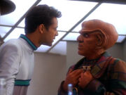 Bashir discovers Quark's plan to drug him