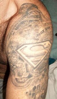 Tattoo superman jonesy