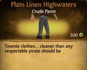 Plain Linen Highwaters