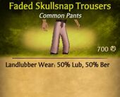 Faded Skullsnap Trousers