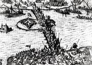 Mihai Viteazul fighting the Turks, Giurgiu, October 1595