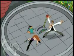 Kim Possible's Spot the Diff cameo