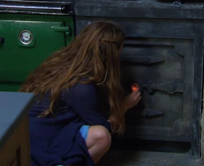 Nina opening up the cellar..jpg
