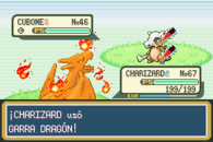 Charizard usuando Garra dragn en RFVH