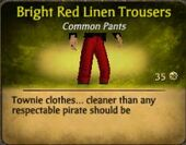 Bright Red Linen Trousers
