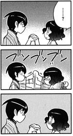 Keima doesn&#39;t let her hand go