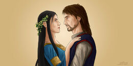 Encounter of Beren and Luthien by GustavoMalek