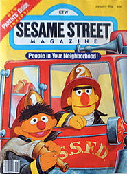 Sesame street magazine january 1986