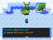 Rayquaza en Escalera Celeste