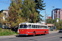 Edmonton CCF-Brill trolleybus 202
