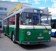 Saurer 4IILM historic trolleybus in Gdynia