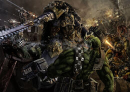Ragnar Blackmane vs. Orks