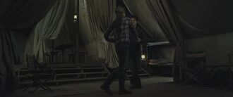 Harry and Hermione dancing inside the tent 02