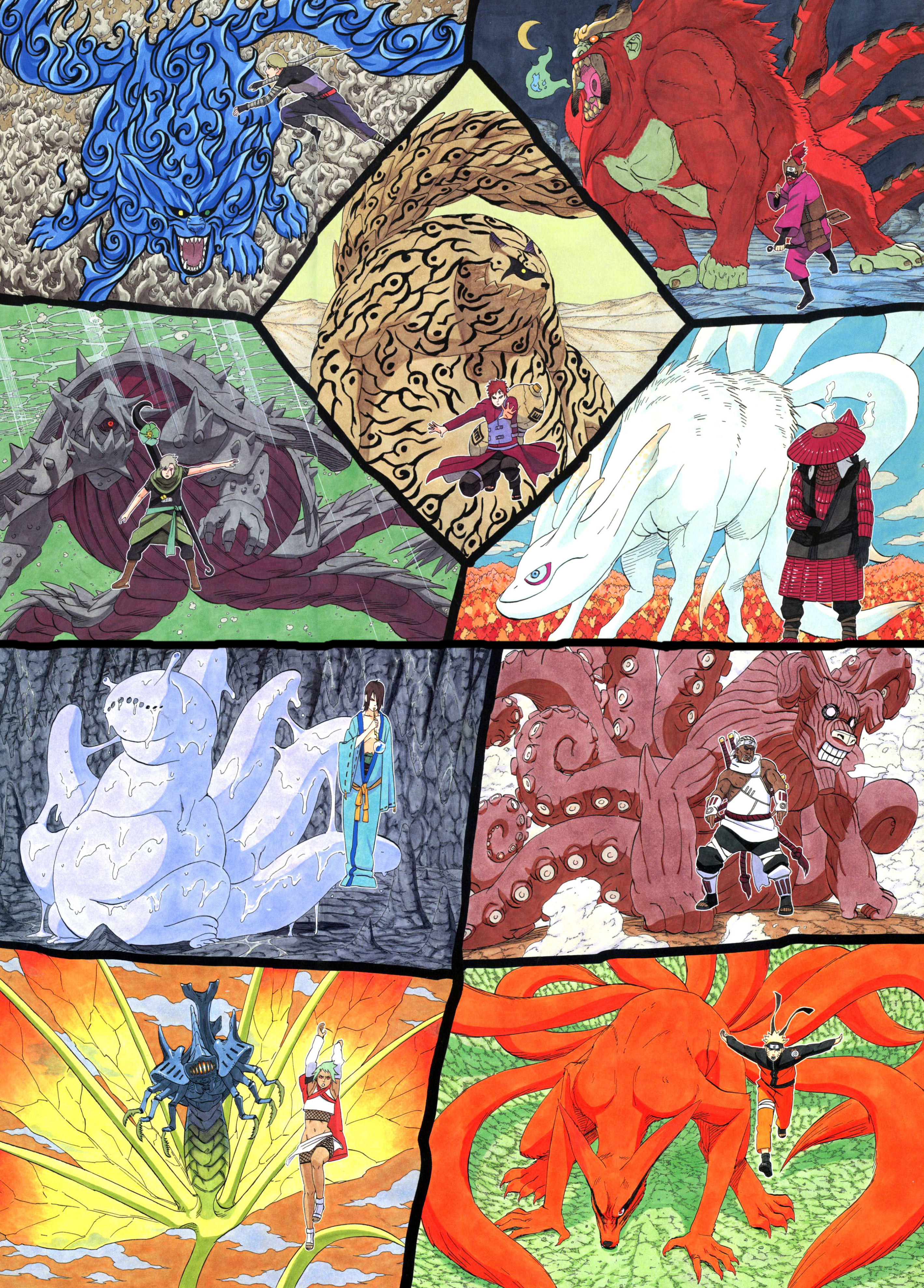 All 9 Tailed Beast Naruto